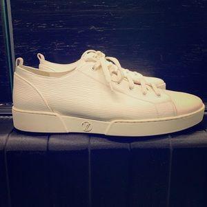 Louis Vuitton Epi leather lowtop sneakers  cream